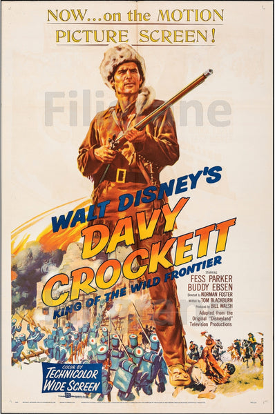 DAVY CROCKETT FILM Rfif-POSTER/REPRODUCTION d1 AFFICHE VINTAGE