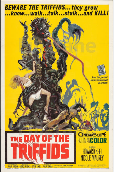 CINéMA THE DAY of the TRIFFIDS  Rflz-POSTER/REPRODUCTION d1 AFFICHE VINTAGE