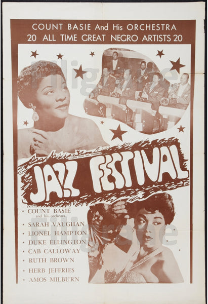 JAZZ FESTIVAL  Runh-POSTER/REPRODUCTION d1 AFFICHE VINTAGE
