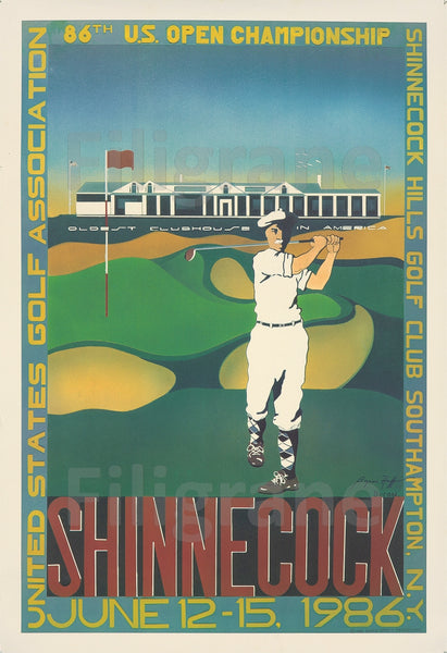 TOURISME SHINNE COCK GOLF 1986 Rvog-POSTER/REPRODUCTION  d1 AFFICHE VINTAGE