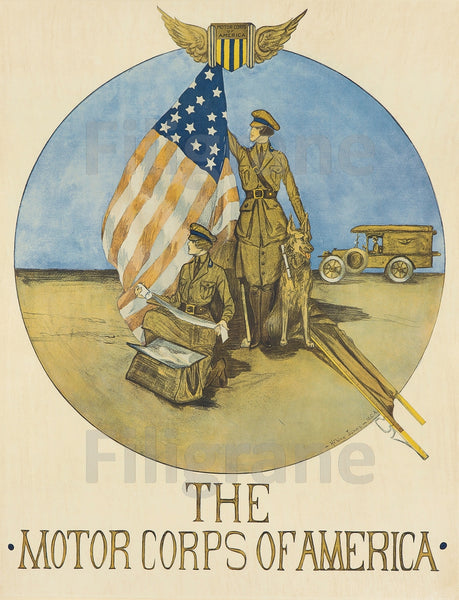 WAR MOTOR CORPS of AMERICA Roha-POSTER/REPRODUCTION  d1 AFFICHE VINTAGE