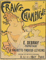 PUB FRANCE CHAMPAGNE E. DEBRAY Rkyd-POSTER/REPRODUCTION  d1 AFFICHE VINTAGE