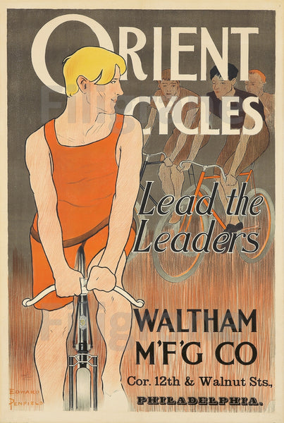 ORIENT CYCLES VéLO Ropo-POSTER/REPRODUCTION  d1 AFFICHE VINTAGE