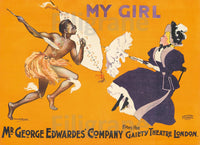 MY GIRL ThéATRE Rsbm-POSTER/REPRODUCTION  d1 AFFICHE VINTAGE