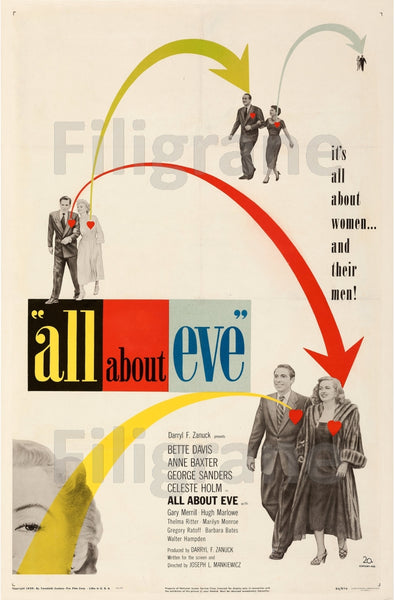 ALL ABOUT EVE FILM Rccp-POSTER/REPRODUCTION d1 AFFICHE VINTAGE