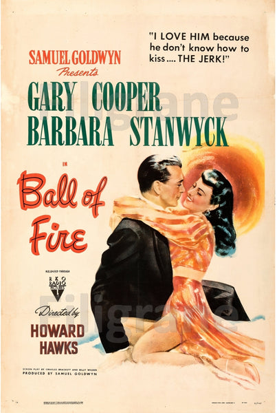 BALL of FIRE FILM Regh-POSTER/REPRODUCTION d1 AFFICHE VINTAGE