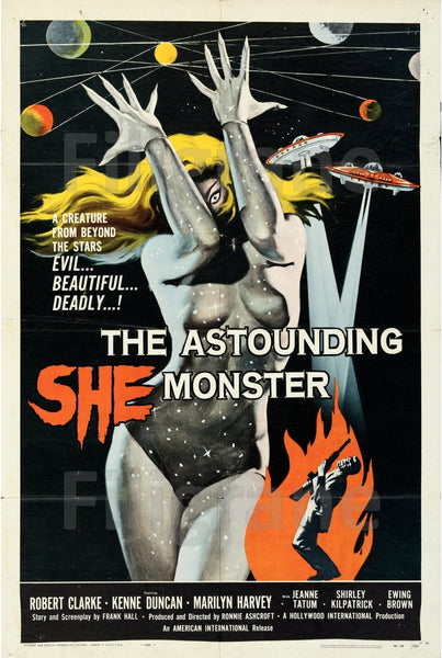 CINéMA ASTOUNDING SHE MONSTER  Rnux-POSTER/REPRODUCTION d1 AFFICHE VINTAGE