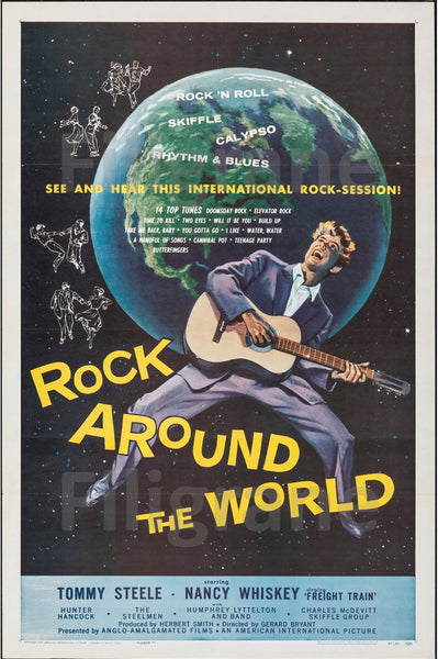CINéMA ROCK AROUND the WORLD Rziv-POSTER/REPRODUCTION d1 AFFICHE VINTAGE
