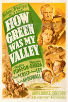 CINéMA HOW GREEN WAS MY VALLEY Rilp-POSTER/REPRODUCTION d1 AFFICHE VINTAGE