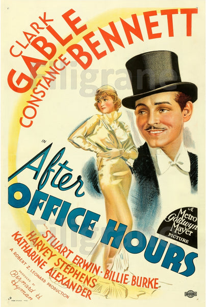 AFTER OFFICE HOURS FILM Robw-POSTER/REPRODUCTION d1 AFFICHE VINTAGE