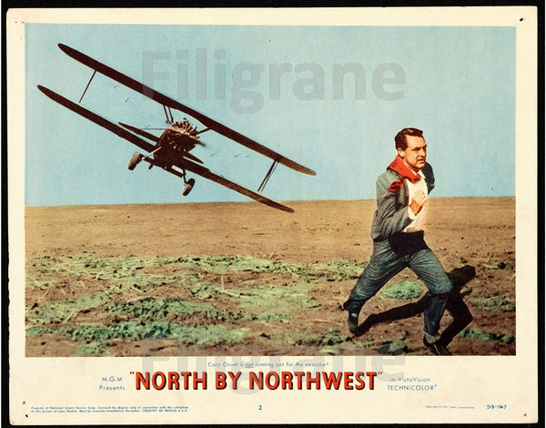 CINéMA NORTH by NORTHWEST Rmyi-POSTER/REPRODUCTION d1 AFFICHE VINTAGE