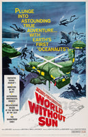 CINéMA WORLD WITHOUT SUN Rswh-POSTER/REPRODUCTION d1 AFFICHE VINTAGE