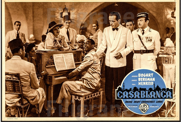 CASABLANCA FILM Ruam-POSTER/REPRODUCTION d1 AFFICHE VINTAGE