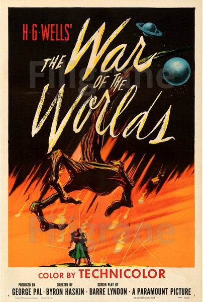 CINéMA THE WAR of the WORLDS Rzuh-POSTER/REPRODUCTION d1 AFFICHE VINTAGE