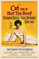 CINéMA CAT on a HOT TIN ROOF Rgfs-POSTER/REPRODUCTION d1 AFFICHE VINTAGE