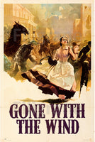 GONE WITH the WIND FILM Rnpk-POSTER/REPRODUCTION d1 AFFICHE VINTAGE