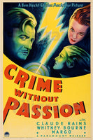 CRIME without PASSION FILM Rwju-POSTER/REPRODUCTION d1 AFFICHE VINTAGE
