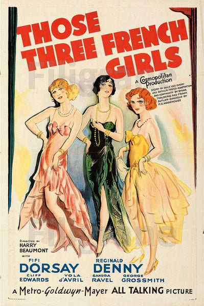 CINéMA THOSE THREE FRENCH GIRLS Riei-POSTER/REPRODUCTION d1 AFFICHE VINTAGE
