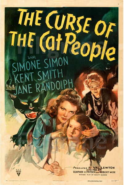 CINéMA CURSE of the CAT PEOPLE Rhpa-POSTER/REPRODUCTION d1 AFFICHE VINTAGE