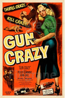 GUN CRAZY FILM Rinw-POSTER/REPRODUCTION d1 AFFICHE VINTAGE