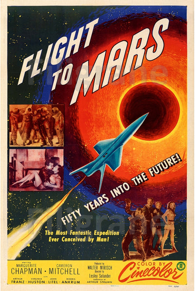 FLIGHT to MARS FILM Rkyj-POSTER/REPRODUCTION d1 AFFICHE VINTAGE