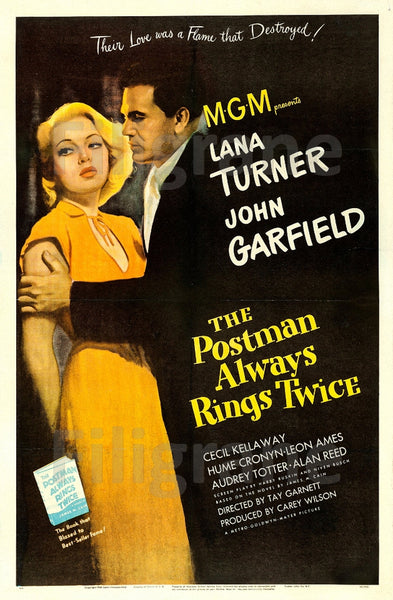 CINéMA POSTMAN ALWAYS RINGS TWICE Rrlf-POSTER/REPRODUCTION d1 AFFICHE VINTAGE