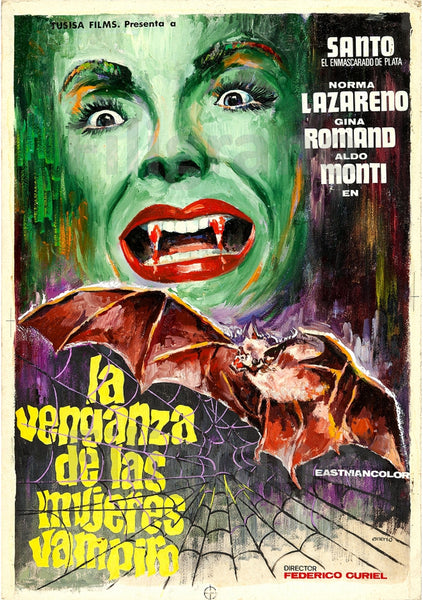 CINéMA VENGANZA MUJERES VAMPIRO Rqzo-POSTER/REPRODUCTION d1 AFFICHE VINTAGE