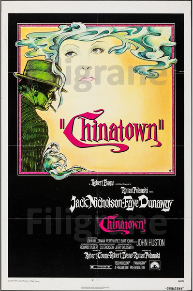CHINATOWN FILM Rpxv-POSTER/REPRODUCTION d1 AFFICHE VINTAGE
