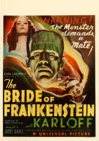CINéMA BRIDE of FRANKENSTEIN Rftm-POSTER/REPRODUCTION d1 AFFICHE VINTAGE