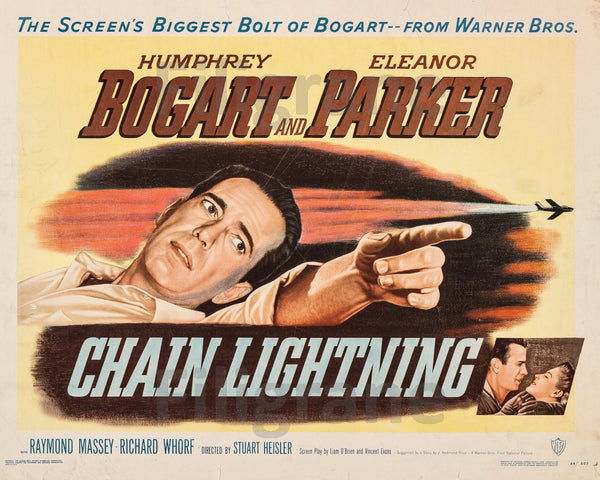 CHAIN LIGHTNING FILM Rdlb-POSTER/REPRODUCTION d1 AFFICHE VINTAGE