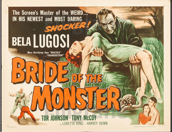 BRIDE of the MONSTER FILM Ruua-POSTER/REPRODUCTION d1 AFFICHE VINTAGE
