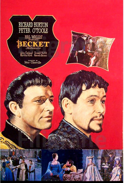 BECKET FILM Rwfa-POSTER/REPRODUCTION d1 AFFICHE VINTAGE