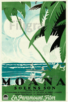 MOANA of thE SOUTH FILM Rojh POSTER/REPRODUCTION  d1 AFFICHE VINTAGE