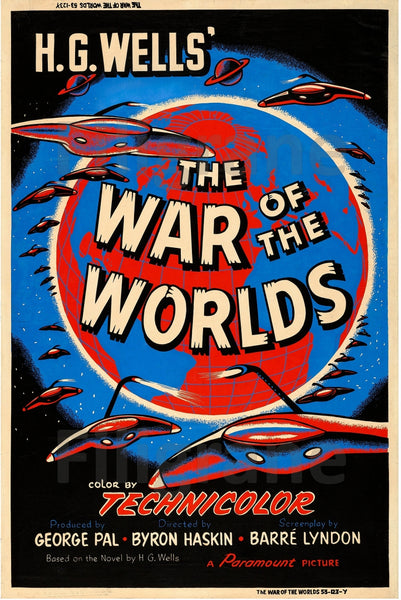 WAR of the WORLDS  FILM Rcxo POSTER/REPRODUCTION  d1 AFFICHE VINTAGE