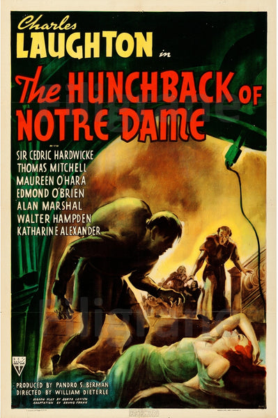 FILM HUNCHBACK of NOTRE DAME Rsau POSTER/REPRODUCTION  d1 AFFICHE VINTAGE