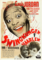 SWINGKUNGEN HAARLEM FILM Rfhf POSTER/REPRODUCTION  d1 AFFICHE VINTAGE