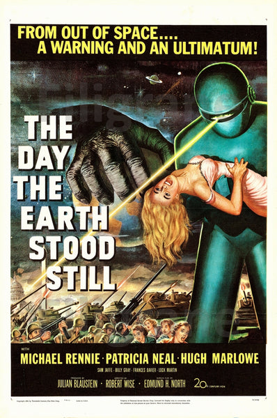 DAY the EARTH STOOD STILL FILM Rkzg POSTER/REPRODUCTION  d1 AFFICHE VINTAGE