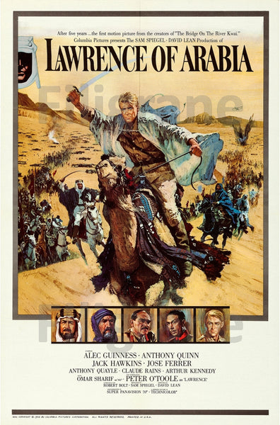 LAWRENCE of ARABIA  FILM Rhwy POSTER/REPRODUCTION  d1 AFFICHE VINTAGE