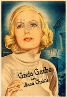 Anna CHRISTIE  GARBO  FILM Rbgq POSTER/REPRODUCTION  d1 AFFICHE VINTAGE