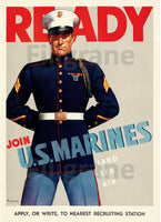 JOIN US MARINES Rvse POSTER/REPRODUCTION  d1 AFFICHE VINTAGE