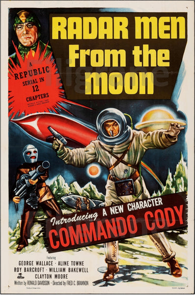 CINéMA RADAR MEN FROM THE MOON Rlvh-POSTER/REPRODUCTION d1 AFFICHE VINTAGE