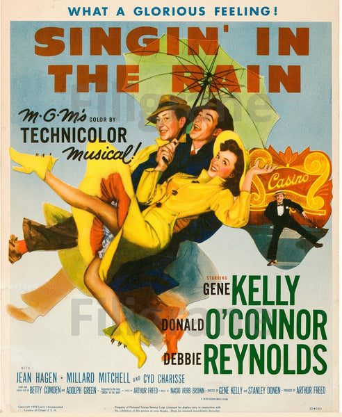 FILM SINGIN' in the RAIN Rkab-POSTER/REPRODUCTION d1 AFFICHE VINTAGE