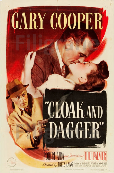 FILM CLOAK and DAGGER Rccv-POSTER/REPRODUCTION d1 AFFICHE VINTAGE