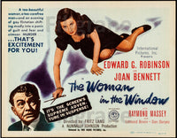 CINéMA The WOMAN in the WINDOW Rhxt-POSTER/REPRODUCTION d1 AFFICHE VINTAGE