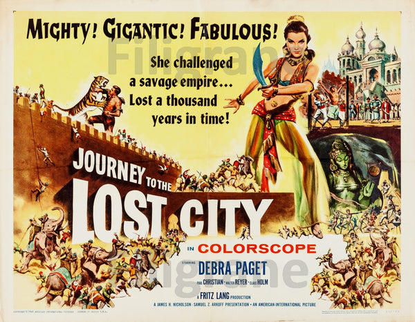 FILM The LOST CITY Rmle-POSTER/REPRODUCTION d1 AFFICHE VINTAGE