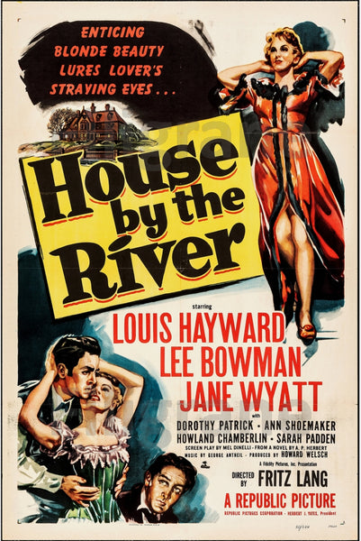 FILM HOUSE by the RIVER Ranh-POSTER/REPRODUCTION d1 AFFICHE VINTAGE