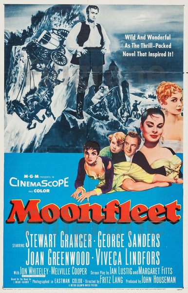 FILM MOONFLEET Fritz LANG Rlnx-POSTER/REPRODUCTION d1 AFFICHE VINTAGE