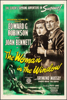 CINéMA The WOMAN in the WINDOW Rwzd-POSTER/REPRODUCTION d1 AFFICHE VINTAGE