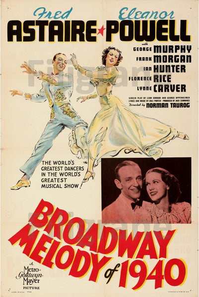 CINéMA BROADWAY MELODY of 1940 Rtdi-POSTER/REPRODUCTION d1 AFFICHE VINTAGE
