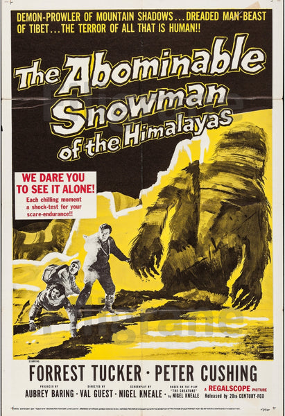 ABOMINABLE SNOWMAN FILM Rgzn-POSTER/REPRODUCTION d1 AFFICHE VINTAGE